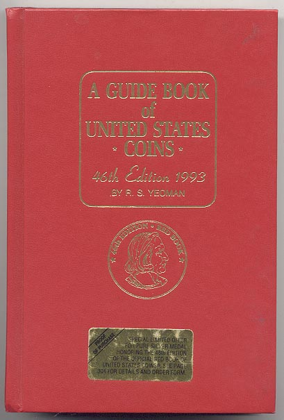 A Guide Book of United States Coins Redbook 1993 46th Edition by R S Yeoman
