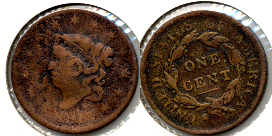 1817 Coronet Large Cent AG-3
