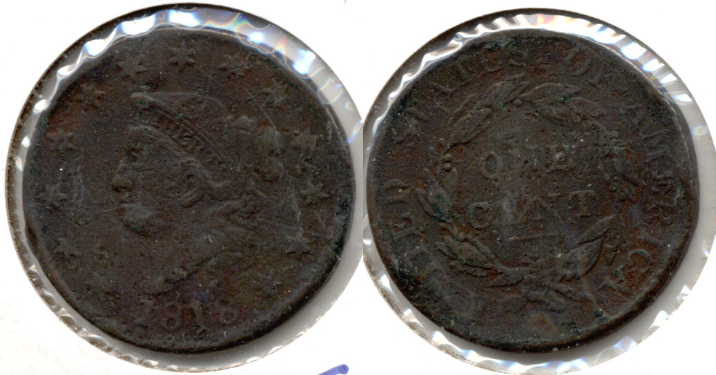 1818 Coronet Large Cent Good-4 #b Damage