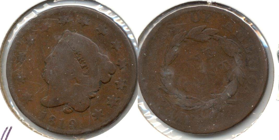 1819 Coronet Large Cent AG-3