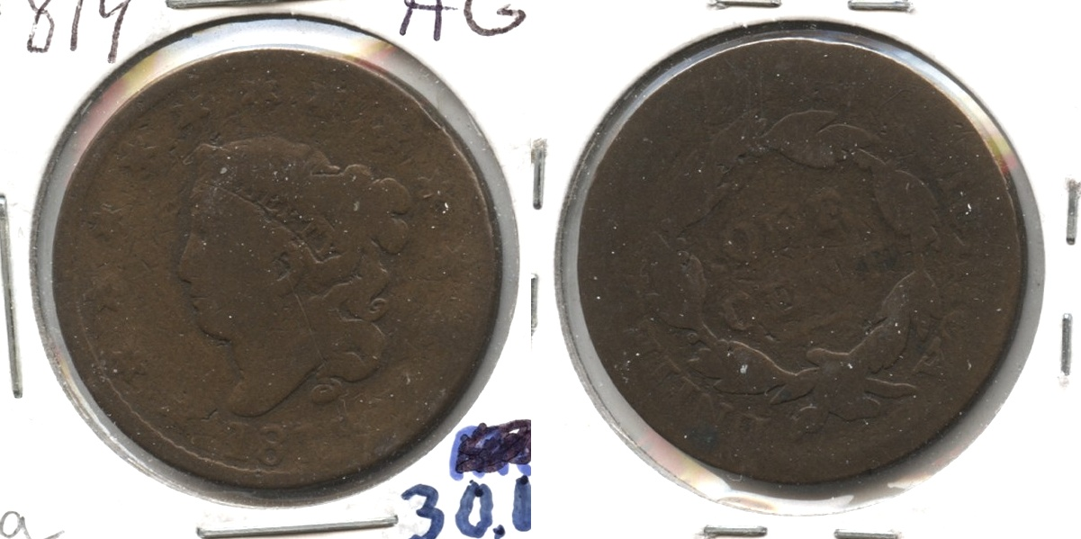 1819 Coronet Large Cent AG-3 #a