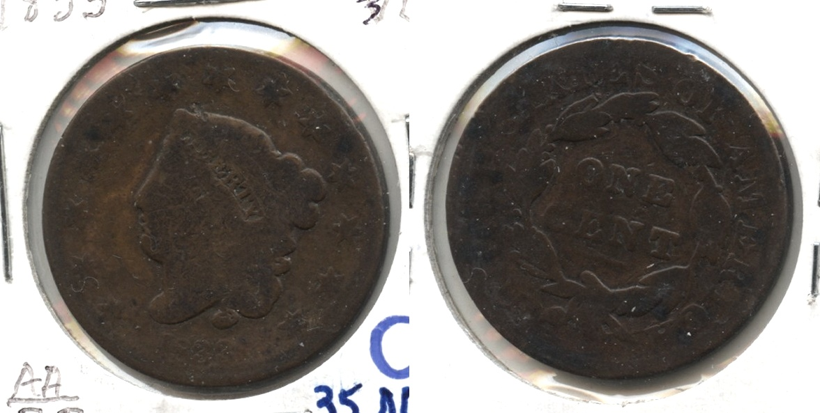 1833 Coronet Large Cent Good-4 #c