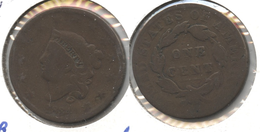 1834 Coronet Large Cent AG-3