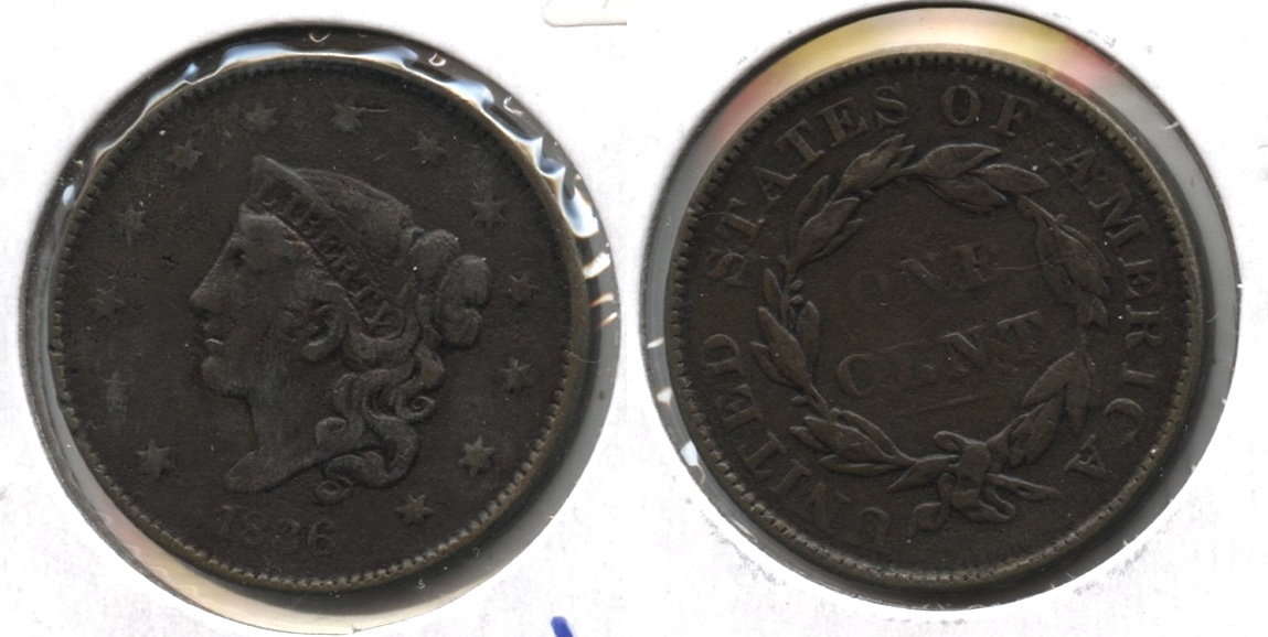 1836 Coronet Large Cent VF-20