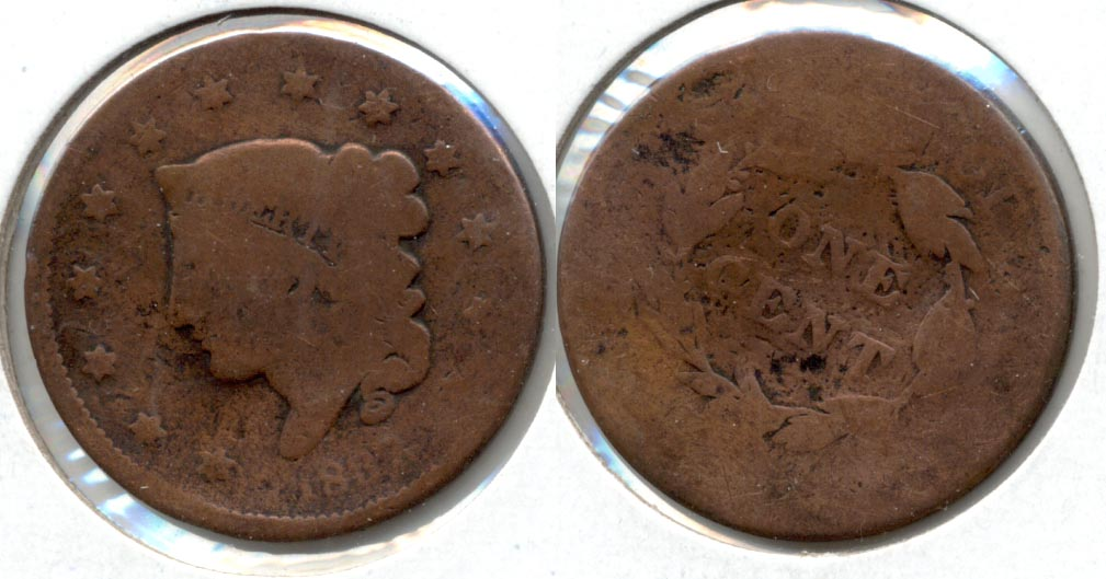 1837 Coronet Large Cent AG-3