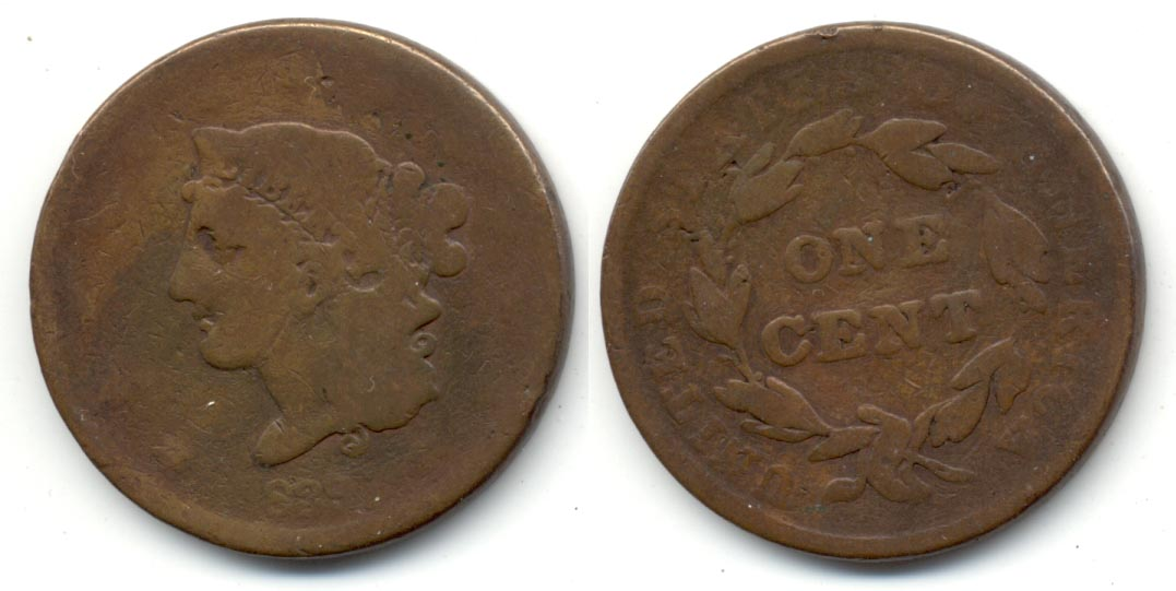 1839 Coronet Large Cent AG-3