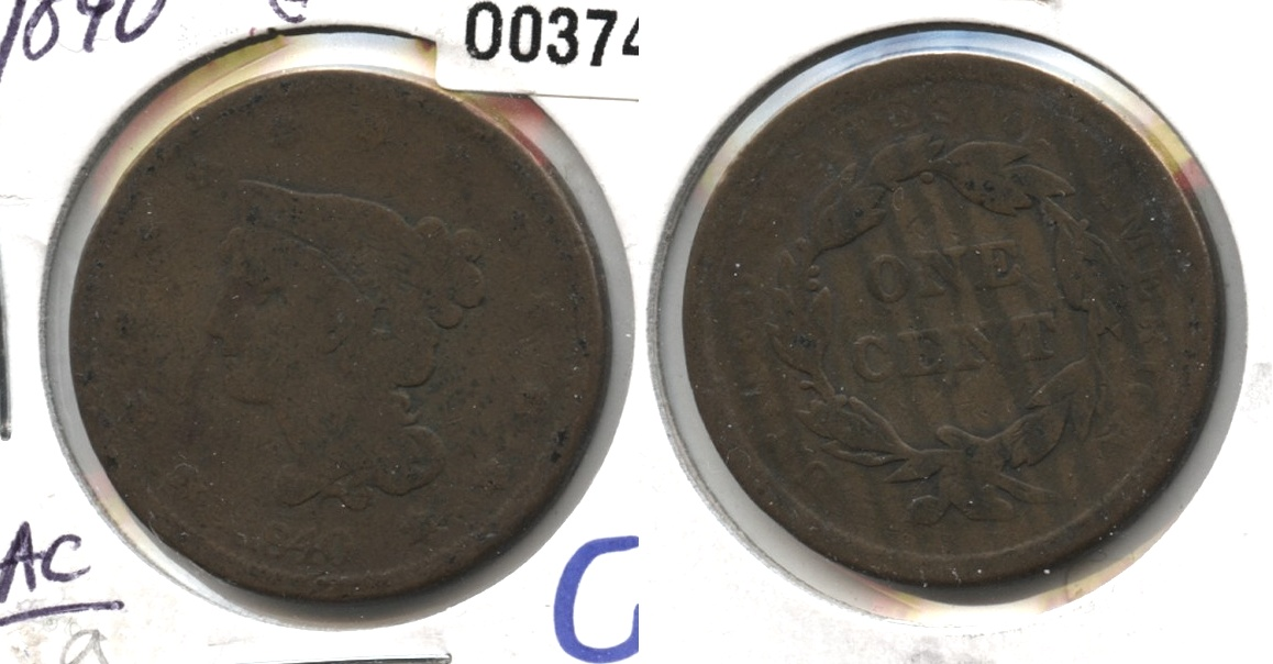 1840 Large Date Large Cent Good-4 #a