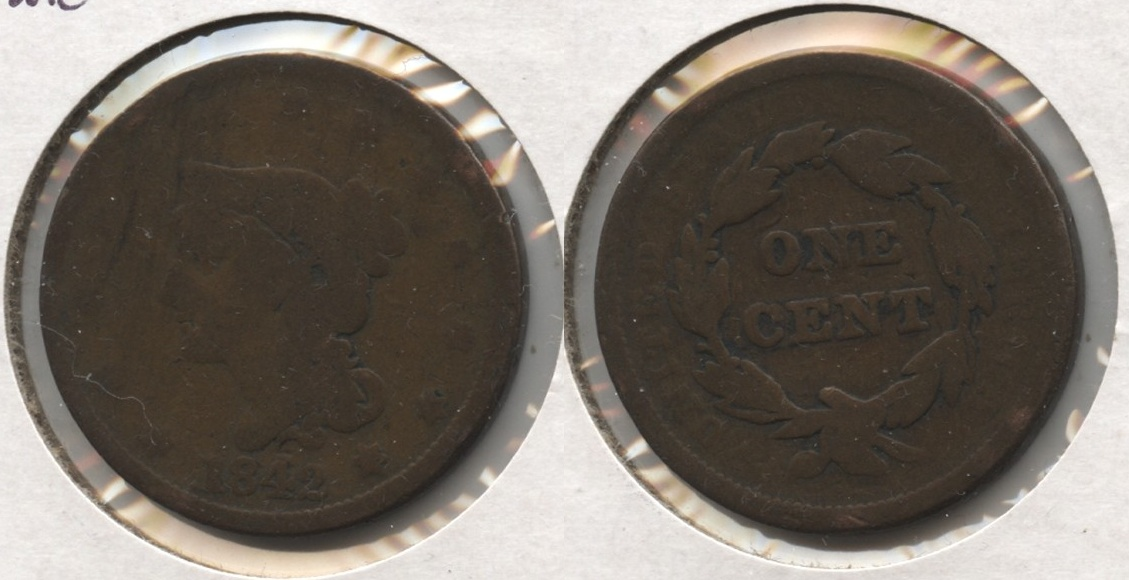 1842 Coronet Large Cent AG-3