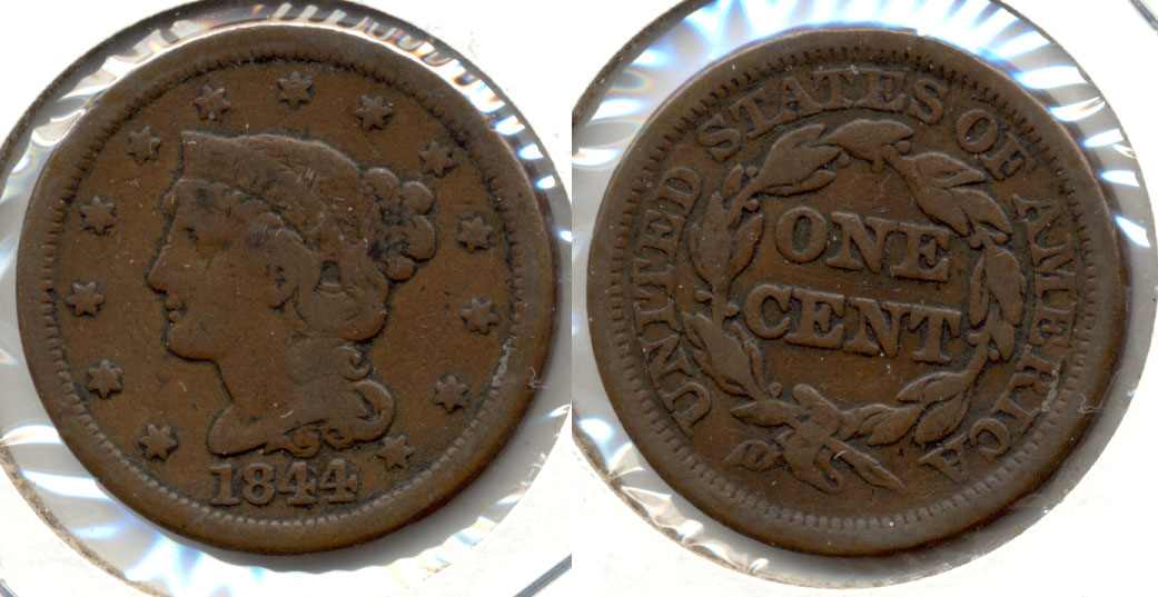 1844 Coronet Large Cent VG-8 a