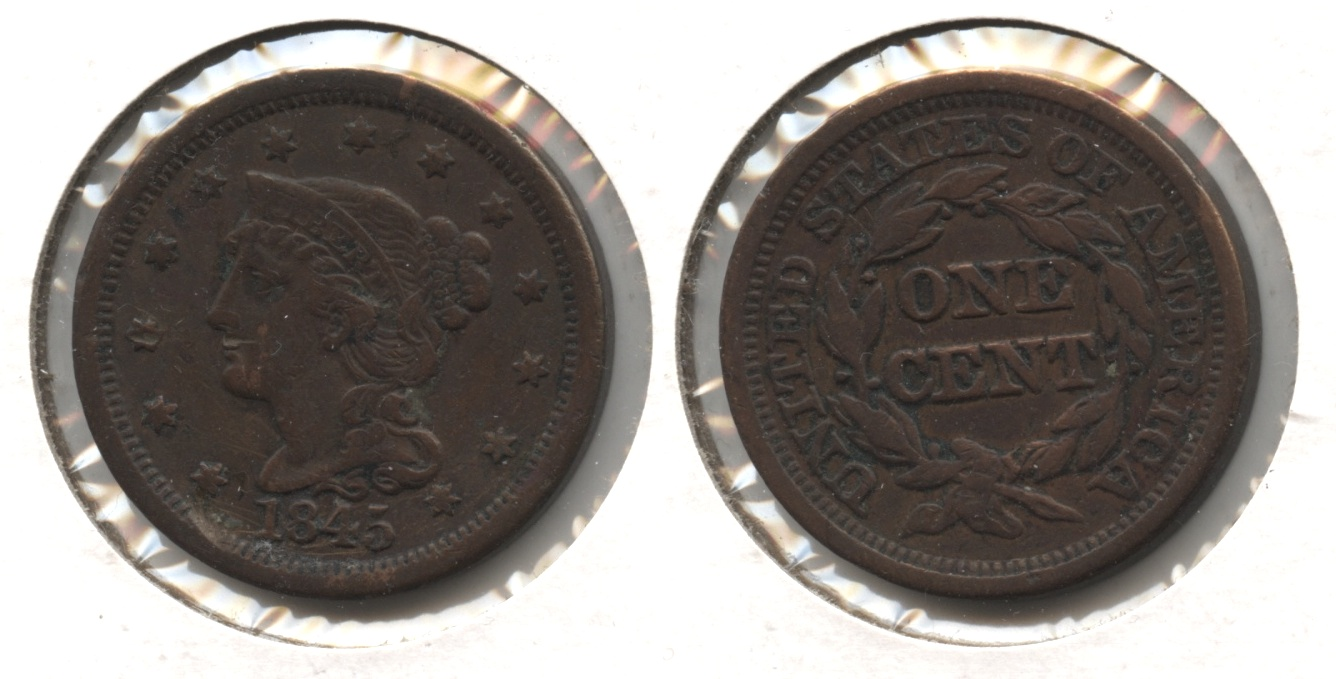 1845 Coronet Large Cent VF-20 #b Rough
