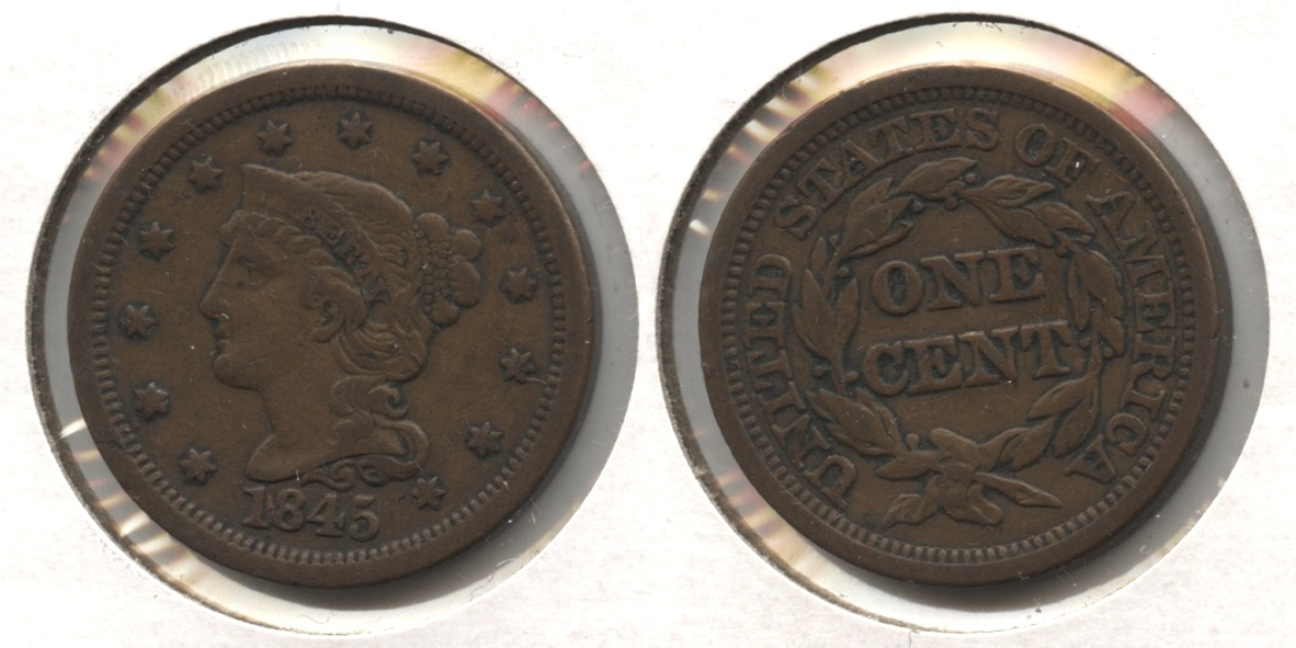 1845 Coronet Large Cent VF-20 #c