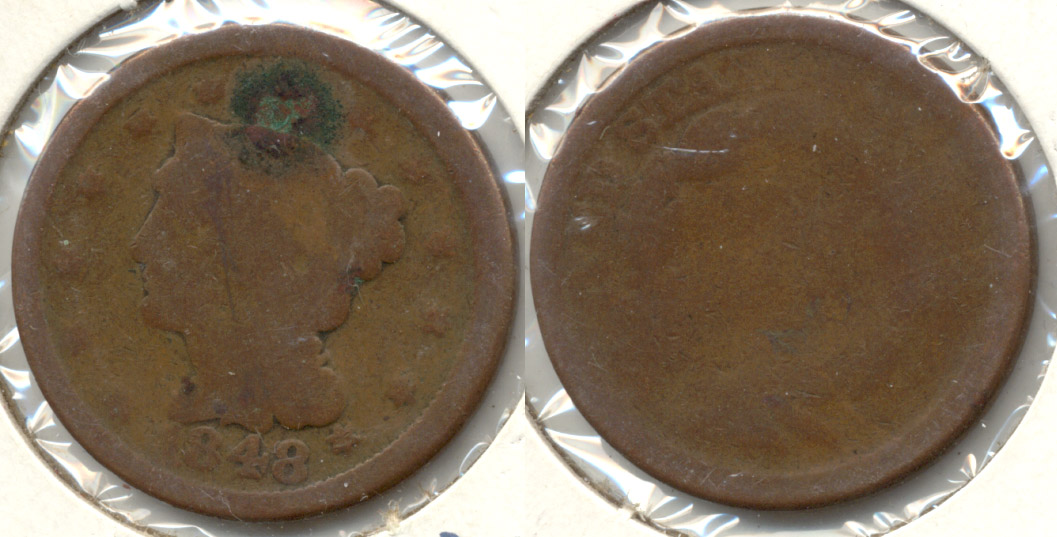 1848 Coronet Large Cent Fair-2