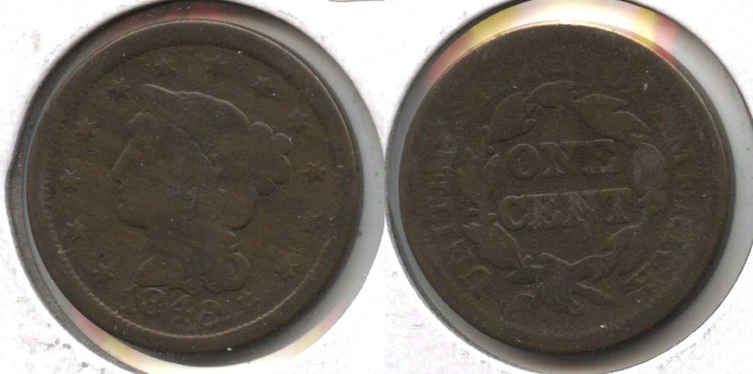 1848 Coronet Large Cent Good-4 #f