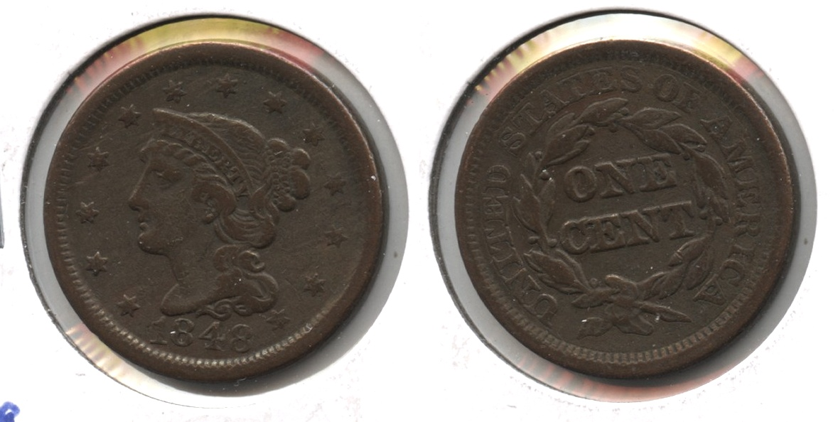 1848 Coronet Large Cent VF-20 #c
