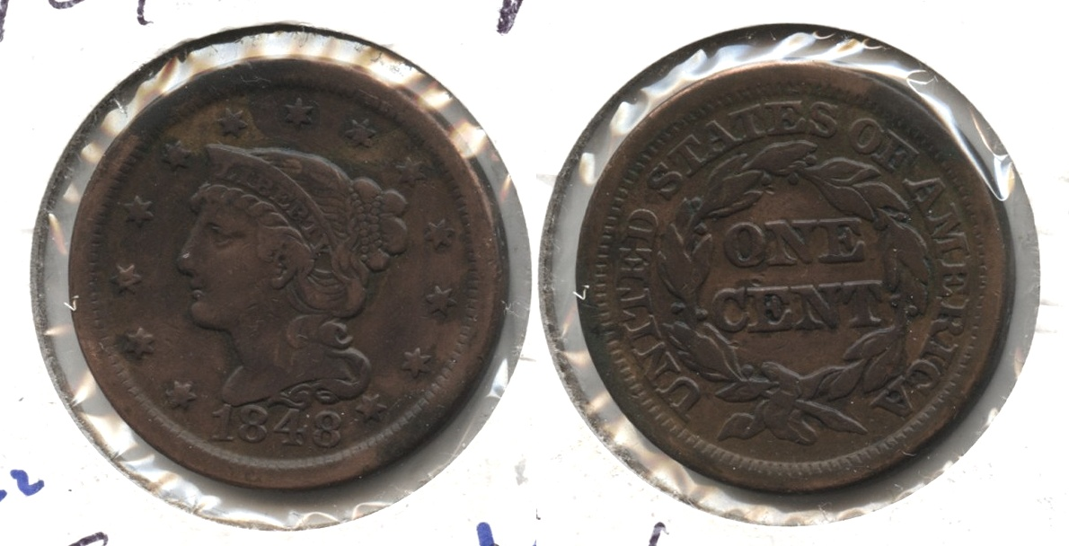 1848 Coronet Large Cent VF-20 #d