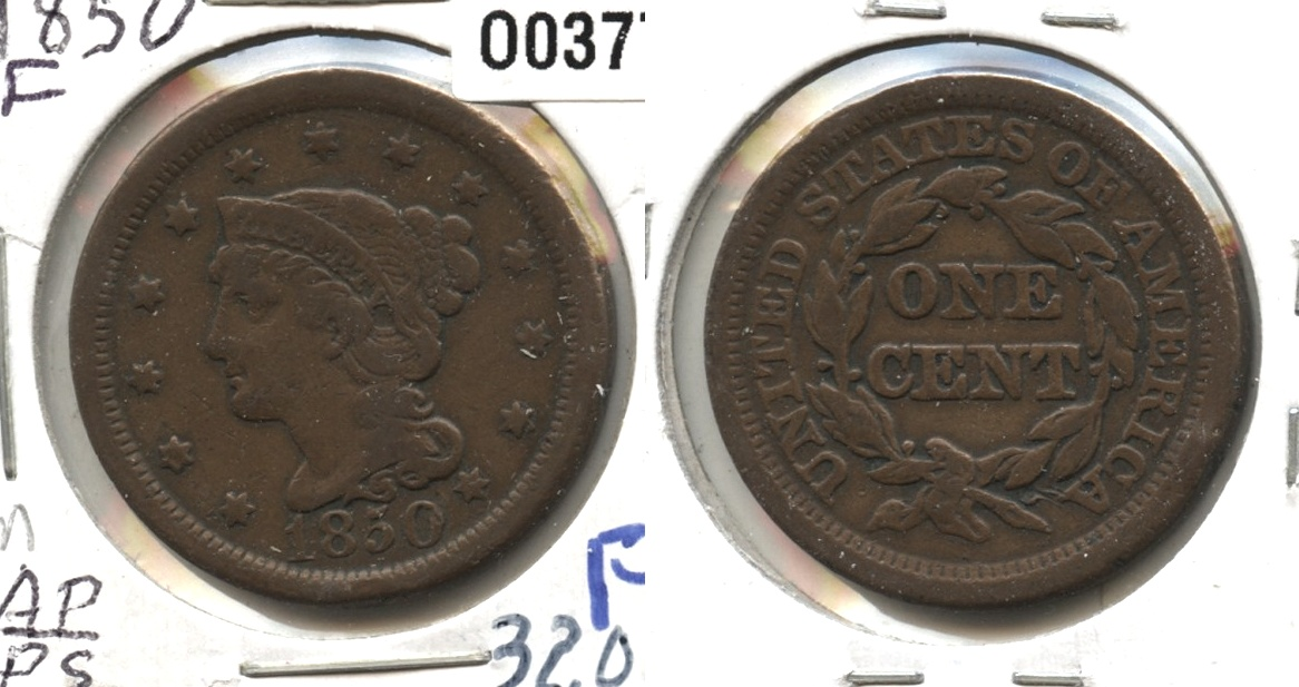 1850 Coronet Large Cent Fine-12 #n