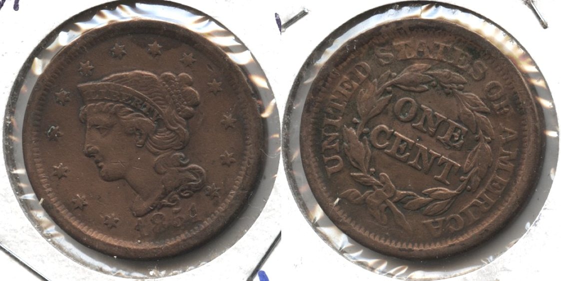 1851 Coronet Large Cent VF-20 #l Cleaned