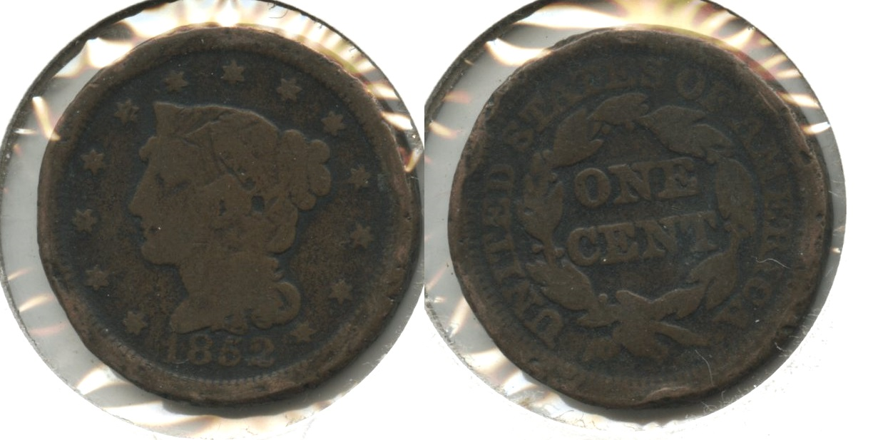 1852 Coronet Large Cent AG-3