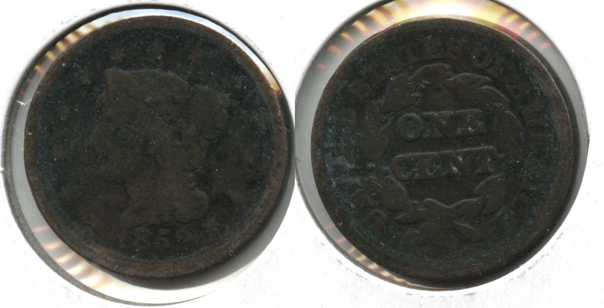 1852 Coronet Large Cent AG-3+ #a