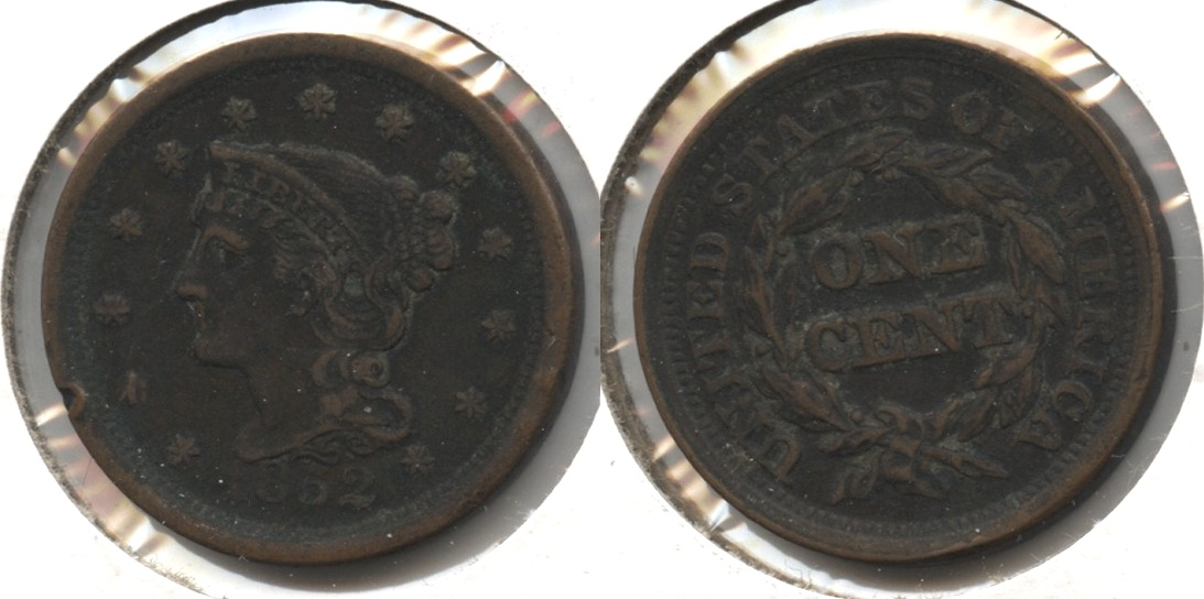 1852 Coronet Large Cent EF-40 Dark