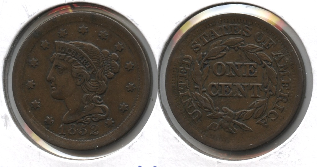 1852 Coronet Large Cent EF-40 #a