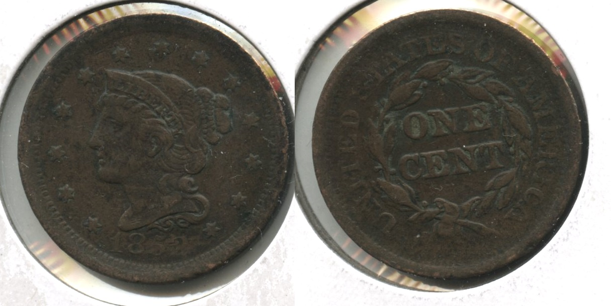 1852 Coronet Large Cent VF-20 #o