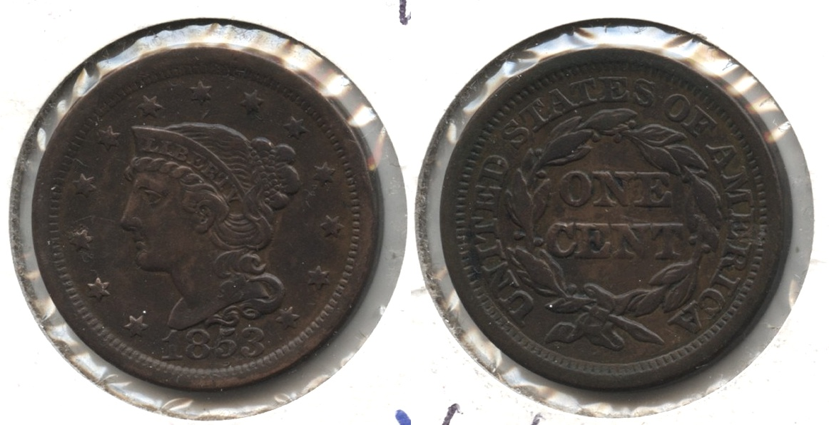 1853 Coronet Large Cent EF-40 #d