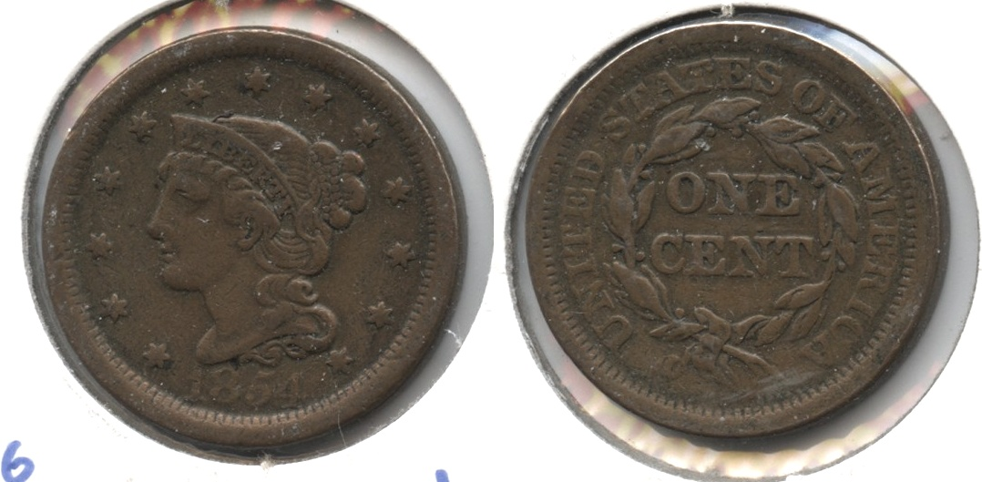 1854 Coronet Large Cent VF-20 #d