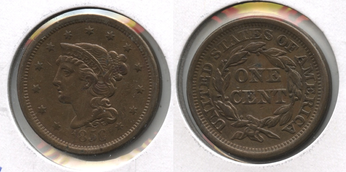 1856 Coronet Large Cent EF-40 #d