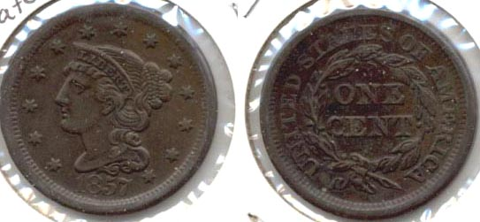 1857 Coronet Large Cent EF-40 Large Date