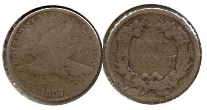 1857 Flying Eagle Cent AG-3 l Bulge