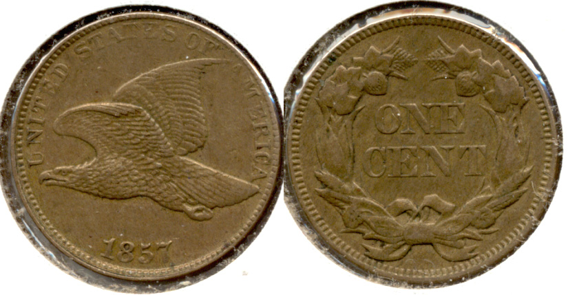 1857 Flying Eagle Cent AU-55