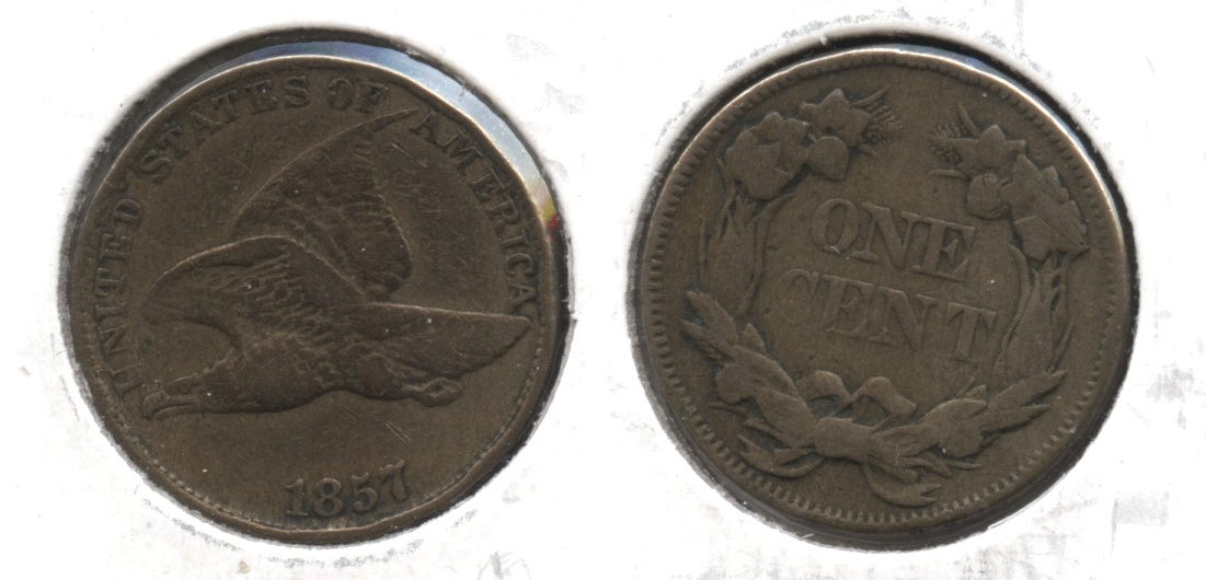 1857 Flying Eagle Cent Fine-12 #x