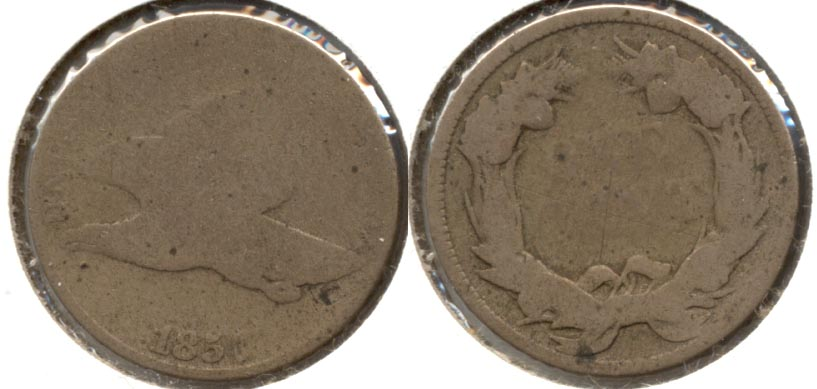 1857 Flying Eagle Cent Fair-2 b