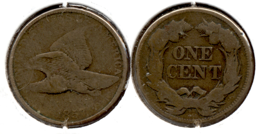 1857 Flying Eagle Cent Good-4 aa