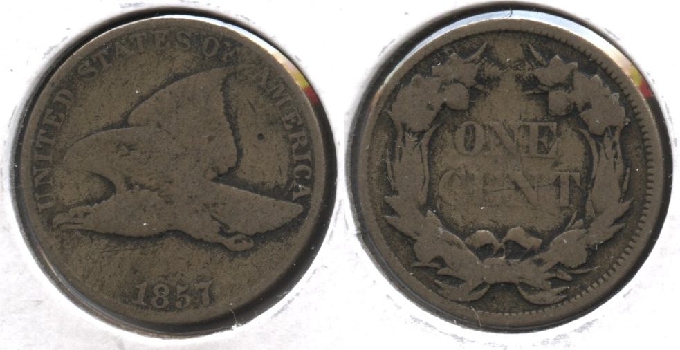 1857 Flying Eagle Cent Good-4 #ag