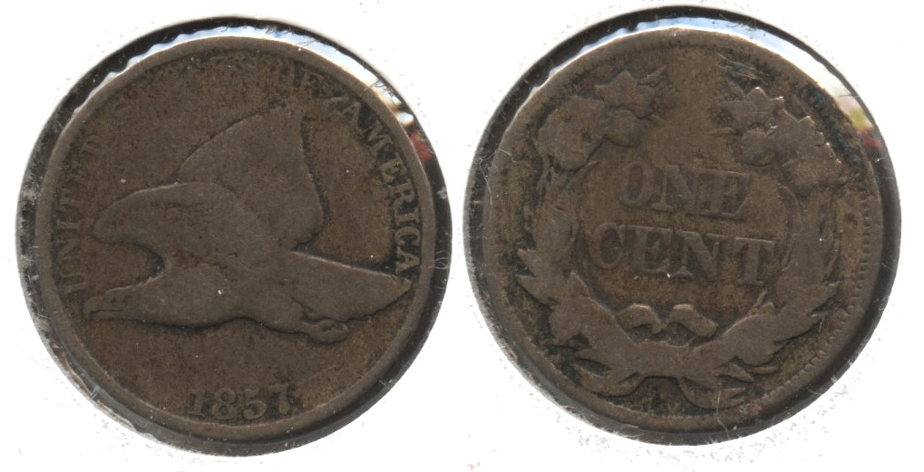 1857 Flying Eagle Cent Good-4 #ap