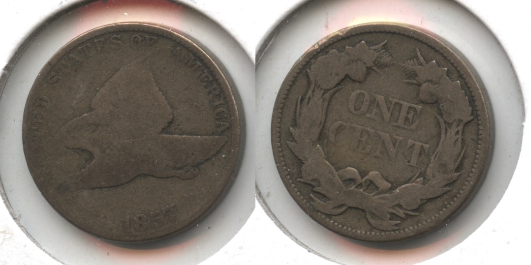 1857 Flying Eagle Cent Good-4 #ar