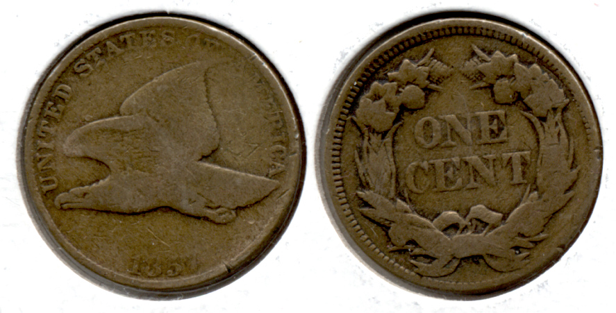 1857 Flying Eagle Cent Good-4 z