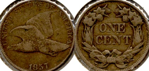 1857 Flying Eagle Cent VF-20 a