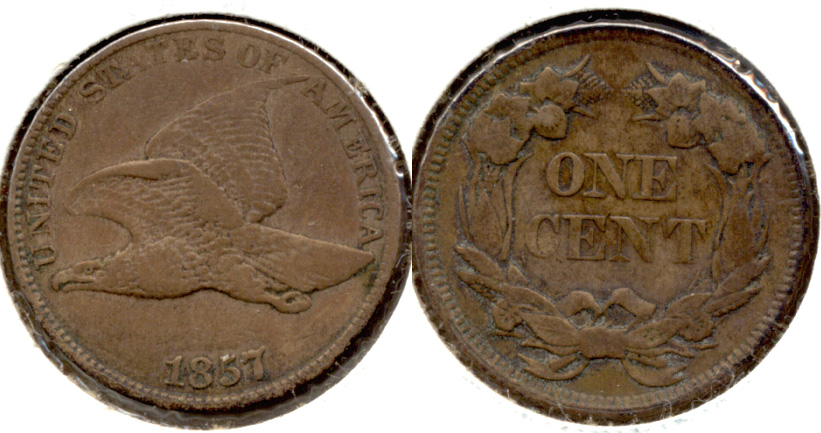 1857 Flying Eagle Cent VF-30