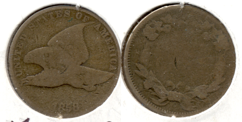 1858 Small Letters Flying Eagle Cent AG-3 m