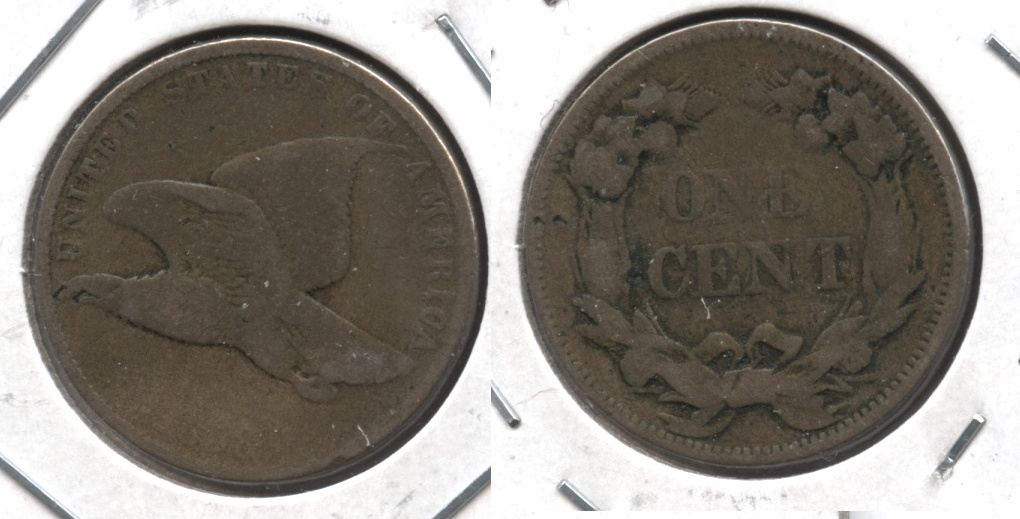 1858 Small Letters Flying Eagle Cent AG-3 #r
