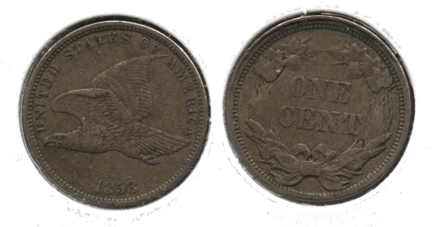 1858 Small Letters Flying Eagle Cent EF-40 #e