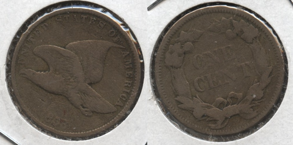 1858 Small Letters Flying Eagle Cent Fine-12 #x