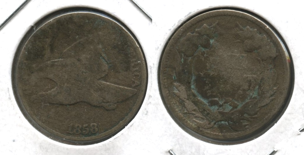 1858 Small Letters Flying Eagle Cent Fair-2 #f