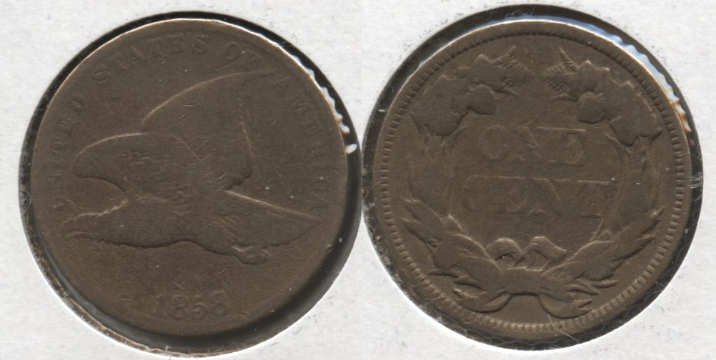 1858 Small Letters Flying Eagle Cent Good-4 #aa