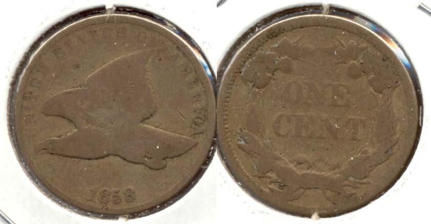 1858 Small Letters Flying Eagle Cent Good-4 d