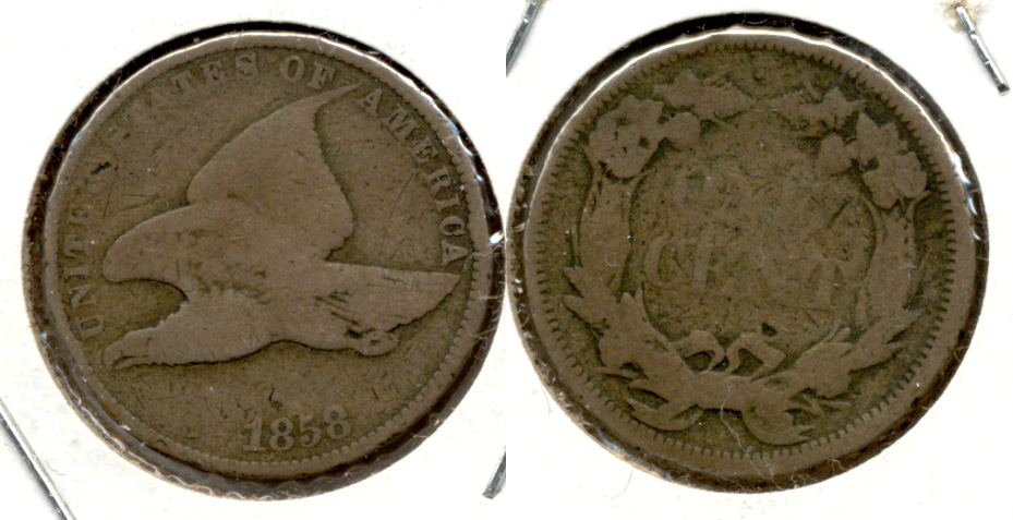 1858 Small Letters Flying Eagle Cent Good-4 l