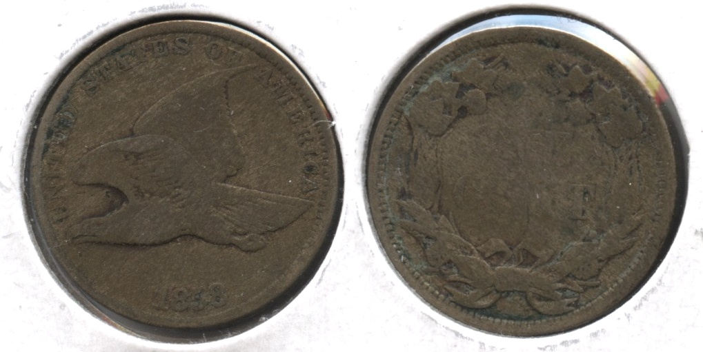 1858 Small Letters Flying Eagle Cent Good-4 #y